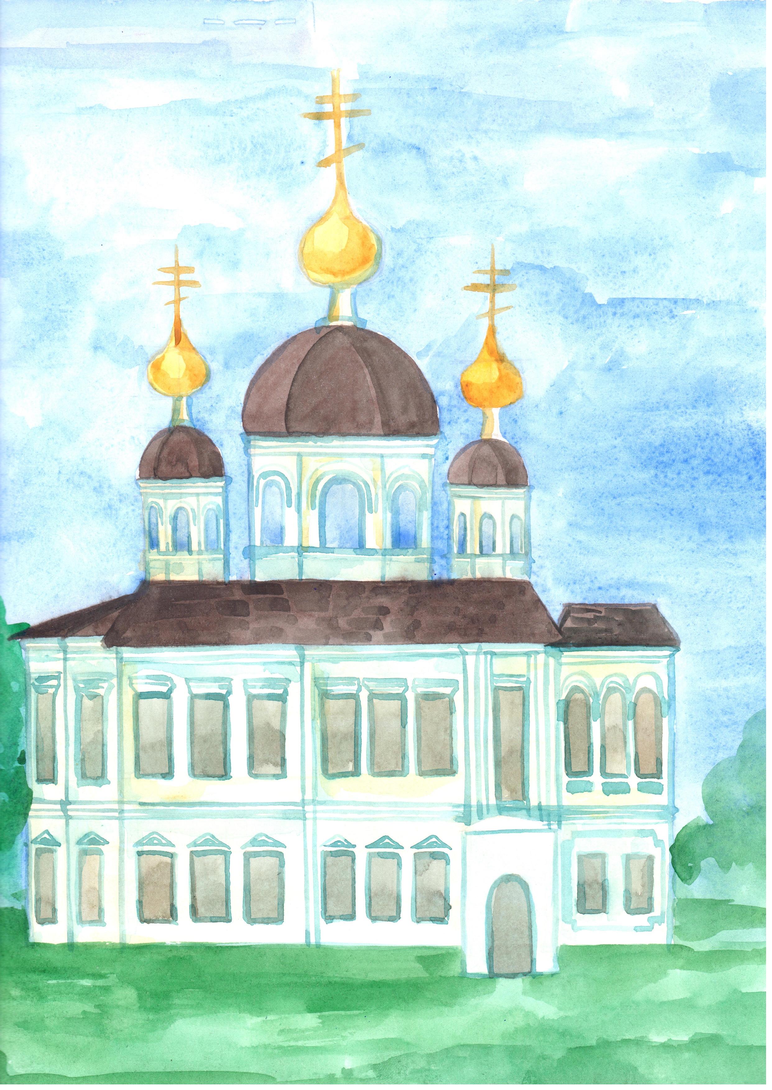 Рисунок 1 - Эскиз восстановления Ильинской Церкви. Автор - Базуева Алена Николаевна.