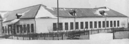 Ильинская школа вид зимой